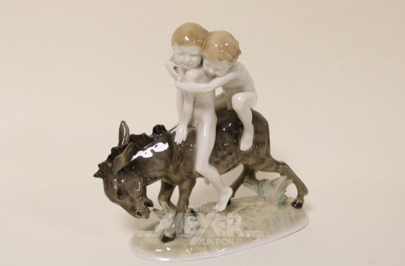 Porz.-Gruppe ''Knaben auf dem Esel''