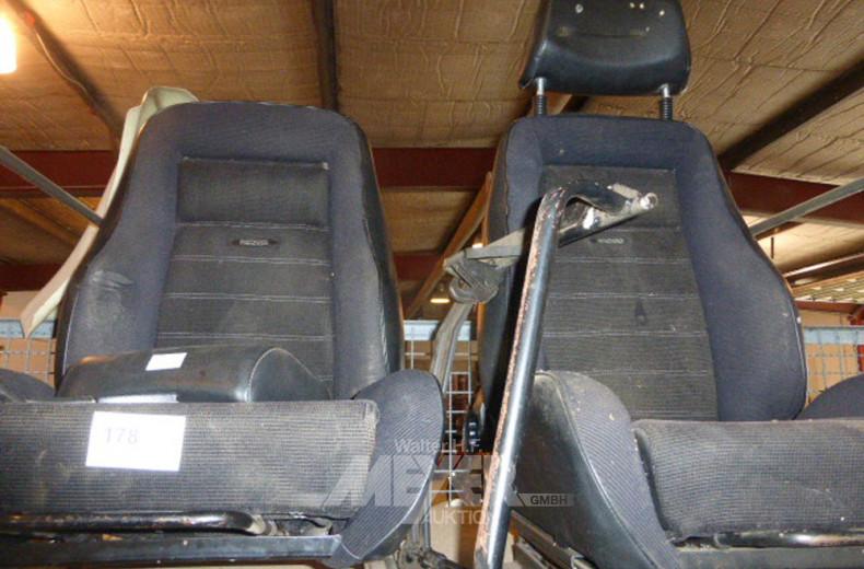 2 Sportsitze RECARO, Cord schwarz,