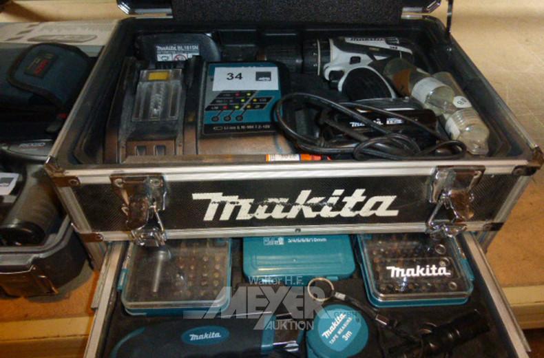 Akku-Bohrschrauber MAKITA Lithium Ion,
