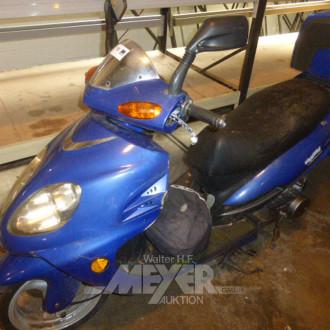 Motorroller, blau