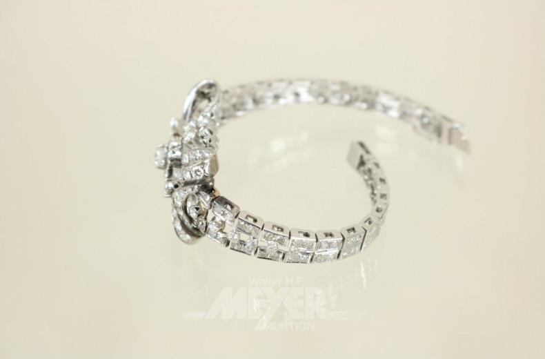 Armband, 750er WG, 60iger Jahre Stil,