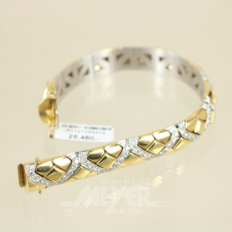 Armband, 750er GG, Handarbeit,