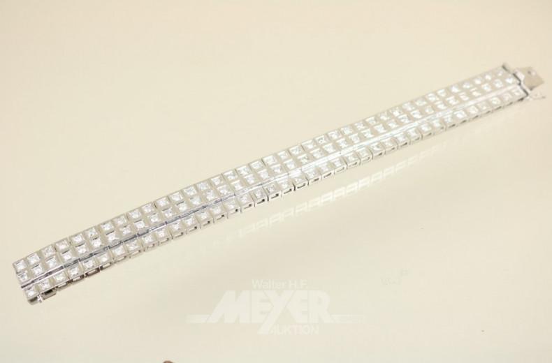 breites Gliederarmband, 750er WG,
