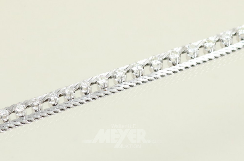 Armband, 750er WG, in der Mitte besetzt