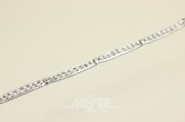 Armband, 750er WG, mit 36 kl. Diamanten