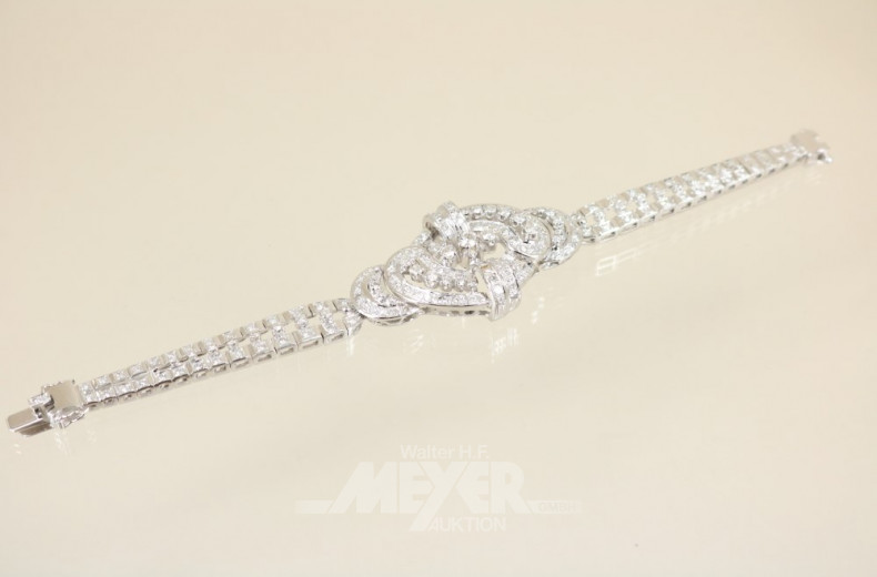Armband, 750er WG, im 60/70er Jahre Stil