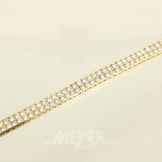 Armband, 750er GG, doppelreihig