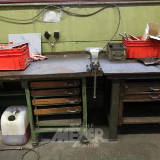 2 Werkbänke, älter