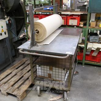 Rollwagen mit Doppelpapier-Abrollgestell