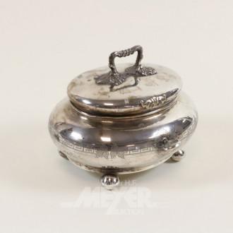Zuckerdose, 750er Silber, mit