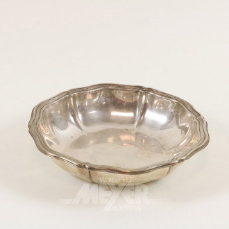 kl. Schale, 830er Silber, ca. 230 g.