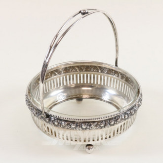 Henkel/Obstschale, 800er Silber,