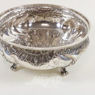 gr. Fuß-Obst/Gebäckschale, 800er Silber