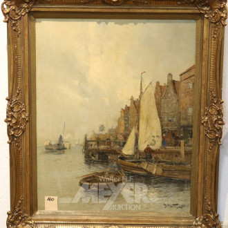 Gemälde ''Hafenansicht''