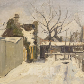 Gemälde, ''Winterliche Landschaft,