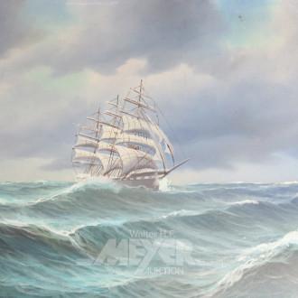Gemälde ''Dreimaster auf hoher See''