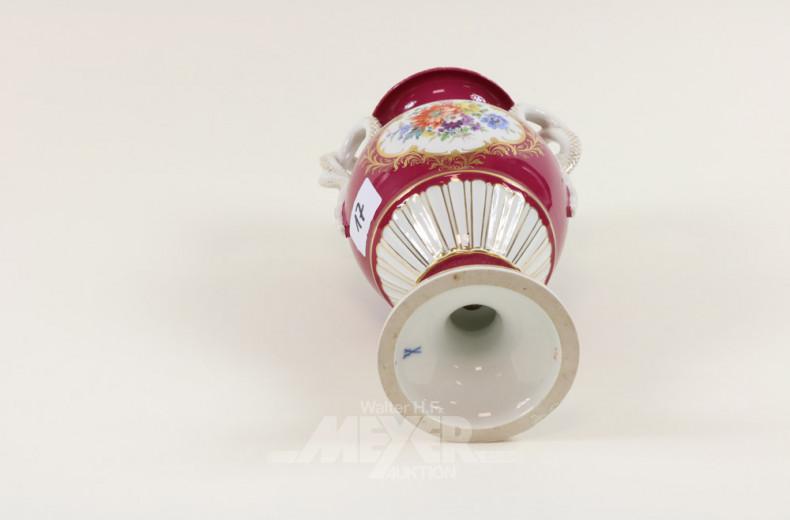 Porzellan-Amphorenvase, Meissen,