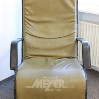 Lounge-Sessel, Leder grün