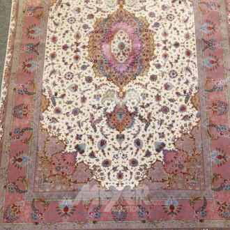 Orient-Teppich ''Täbris'' beige/rotgrunig,