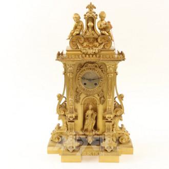 Pendule, Bronze, feuervergoldet
