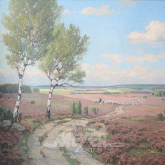 Gemälde ''Auf blühender Heide''