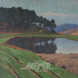 Gemälde ''Waldrand mit See'',