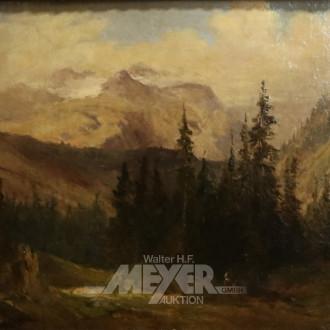 kl. Gemälde ''Gebirgslandschaft''