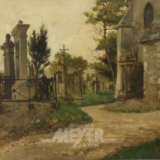 Gemälde, ''Friedhof'',