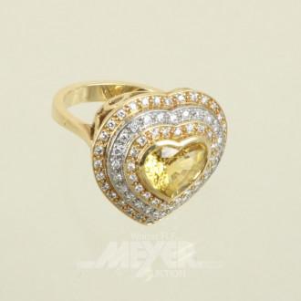 Damenring, 750er GG, passend in Herz-