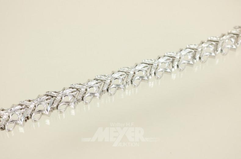 Gliederarmband, 750er WG, schleifen-