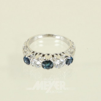 Ring, 585er WG, mit 3 Safiren