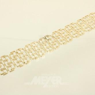 breites Gliederarmband, 585er GG,