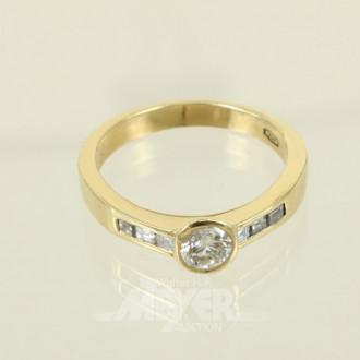 Ring, 750er GG, besetzt mit 7 kl.
