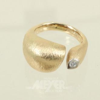 Damenring, 585er GG, ca. 9,3 g.