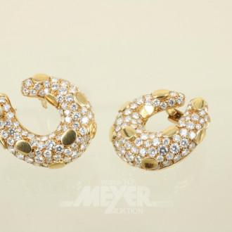 Paar Ohrringe, 750er GG, Modellan-