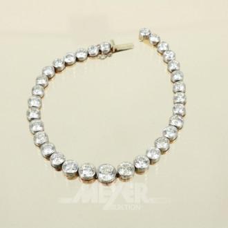 Armband, Silber auf 750er RG,