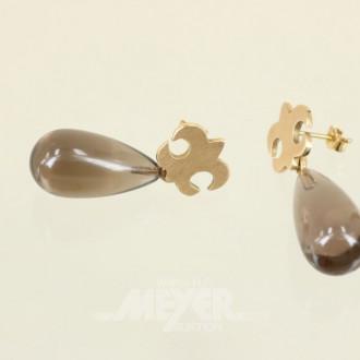 Paar Ohrgehänge, 750er GG ''Lilie''