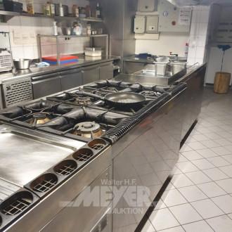 Gastronomieküche bestehend aus:
