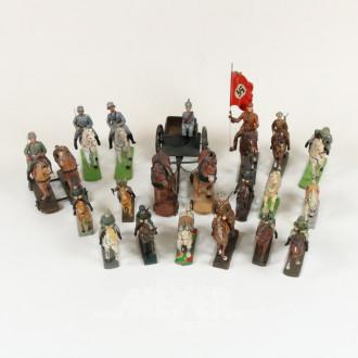 Posten Pferde und Reiter, ca. 18 Stück