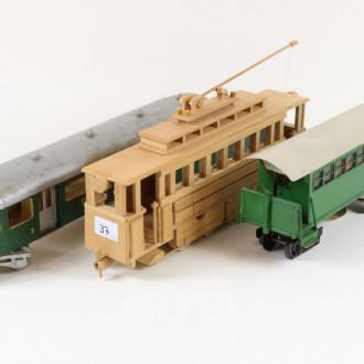 3 div. Waggons, Holz/Metall,