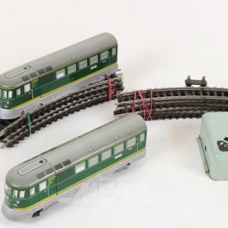 Batteriebahn, H0, mit Schienen und Trafo