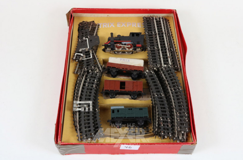 Modellbahn, TRIX, mit Lok, 3 Waggons