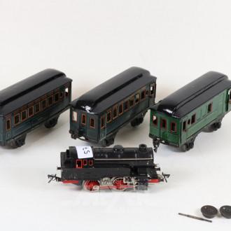 D-Lok und 3 Waggons