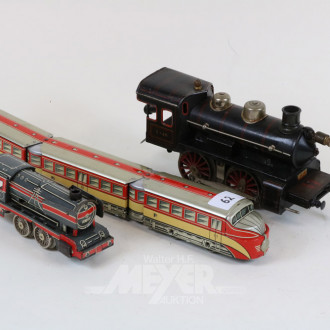 2 Loks und 1 Eisenbahn