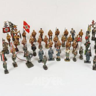 Posten Soldaten und Standardenträger,