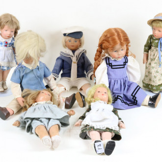 7 div. Puppen, u.a. KÄTHE KRUSE