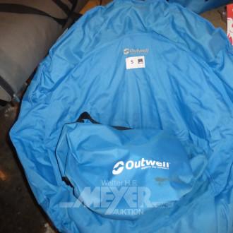2 Nylon-Campingstühle, faltbar, mit Tasche