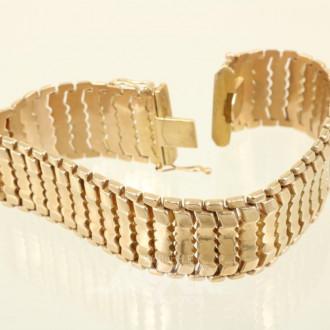 Armband, 750er GG, ca. 35,3 g.