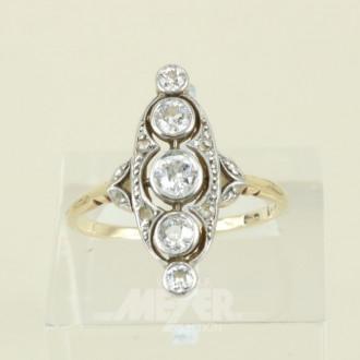 Damenring, 585er GG, Art Deco Stil,