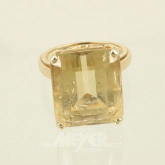 Ring, 585er GG, mit 1 Citrin-Baguette